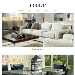 [Gilt] Half-Off Home Sale >>> 50% Off Seating, Furniture, Rugs, Lighting & Decor