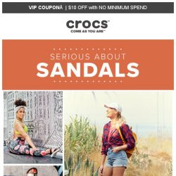 [Crocs Singapore] [$10 OFF Coupon] Seriously. Why not 🔸SANDALS🔹  Everyday ⁉
