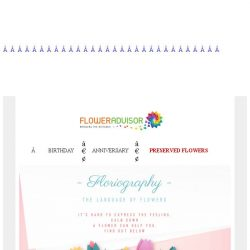 [Floweradvisor] FLORIOGRAPHY: The Language Of Flowers. Check This Out!