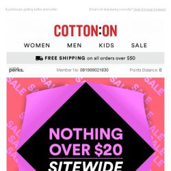 [Cotton On] LOAD UP YOUR CART 🔥 Everything is < $20!!!