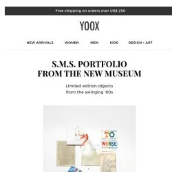 [Yoox] DESIGN+ART: Discover these sustainable, new arrivals