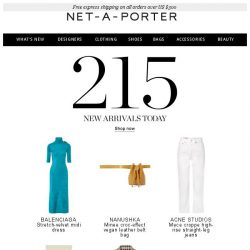 [NET-A-PORTER] In need of something new? Pick from our latest arrivals now