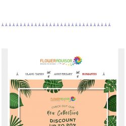 [Floweradvisor] Flash Sale! 20% Off Koleksi Terbaru!