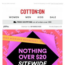 [Cotton On] 😱Ending VERY soon: Nothing over $20