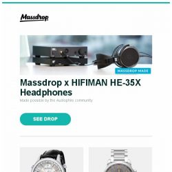 [Massdrop] Massdrop x HIFIMAN HE-35X Headphones, Maurice Lacroix Les Classiques Phases de Lune Watch, Montblanc TimeWalker ChronoVoyager Automatic Watch and more...