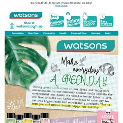 [Watsons] Embrace Nature & Go Au Naturale!