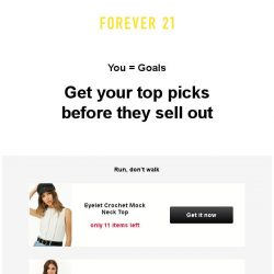 [FOREVER 21] Don't risk serious FOMO