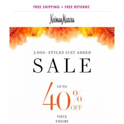 [Neiman Marcus] New to sale! 40% off 2,000+ items