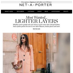 [NET-A-PORTER] The jackets perfect for now