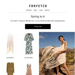 [Farfetch] Celebrate the start of spring in new dresses, bags and sneakers
