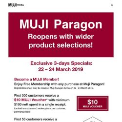 [Muji] MUJI Paragon Reopens with Wider Selections!