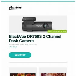 "[Massdrop] BlackVue DR750S 2-Channel Dash Camera, Sony X850F 85"" Class HDR UHD Smart LED TV, Sony XBR 55/65/75"" X900F 4K Ultra HD Smart LED TV and more..."
