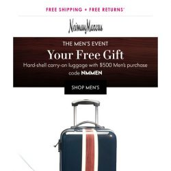 [Neiman Marcus] Going on now: Get a free carry-on!