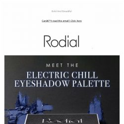 [RODIAL] New: Electric Chill Eyeshadow Palette