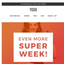 [Yoox] Even more items! Not previously in the promotion