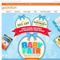[Guardian] 🍼 Your favourite Baby brands are now up to 50% off!