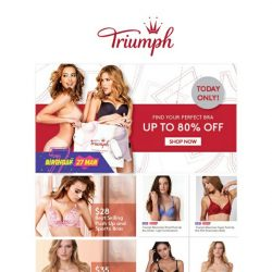 [Triumph] Triumph x Lazada Birthday Sale Up to 80% Off!