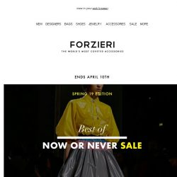 [Forzieri] Alexander Wang, Rebecca Minkoff, Moschino up to 80% Off | Spring 19 SALE