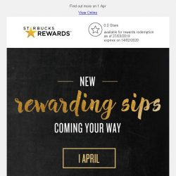 [Starbucks] Sip your way to more rewards