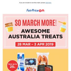 [Fairprice] So March More: The land Down Under! 🇦🇺