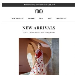 [Yoox] It's new arrivals time! Discover them now >>