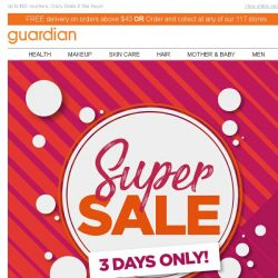 [Guardian] ✨ GUARDIAN SUPER SALE | Up to 60% OFF!
