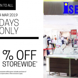 Isetan: Open to All - Enjoy 10% OFF Storewide for 3 Days Only!