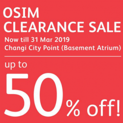 OSIM: Clearance Sale with Up to 50% OFF Display Sets