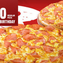 Pizza Hut: Get a Regular Pan Pizza at just $3.80 with Every Ala Carte Main Purchased!
