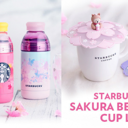 Starbucks: Japan Exclusive Sakura Collection + Sakura Bearista® Cup Lid Now Available in Singapore!