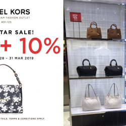 Michael Kors: Super Star Sale with 40% + 10% OFF Storewide at IMM!