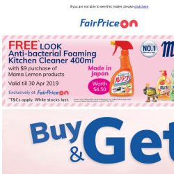[Fairprice] Looking for FREE gifts? 😏
