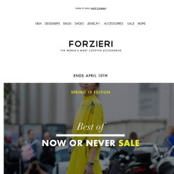 [Forzieri] 3.1 Phillip Lim, Emporio Armani, JW Anderson up to 80% Off | Spring 19 SALE