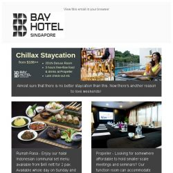 [Bay Hotel] Best way to start Q2 with Bay Hotel Singapore