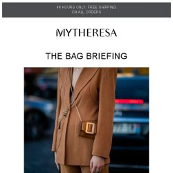 [mytheresa] 48h free shipping + 6 bag trends for SS19