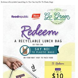 [BreadTalk] Grab your recyclable lunch bags! #GoGreenWithFR