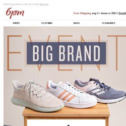 [6pm] Big Brand Event: Adidas, Tory Burch and More!