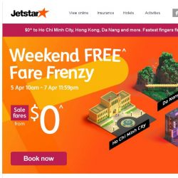 [Jetstar] 3 days only! $0^ to Hong Kong, Ho Chi Minh City and more.