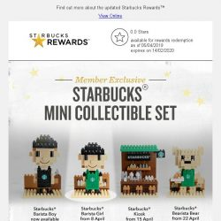 [Starbucks] Grab your Starbucks® Barista Girl Mini Collectible from 8 Apr