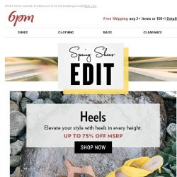 [6pm] The Spring Shoes Edit (all on sale)!