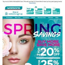 [Watsons]  Spring SALE starts now! 