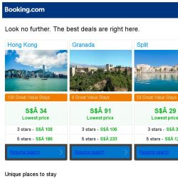 [Booking.com] Hong Kong, Granada, or Split? Get great deals, wherever you want to go