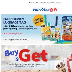 [Fairprice] Gifts with your purchase!