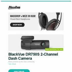 """[Massdrop] BlackVue DR750S 2-Channel Dash Camera, LAMY Safari Pokémon Pikachu Limited-Edition Set, Seiko 5 SRP48X """"Baby Monster"""" Automatic Watch and more..."""