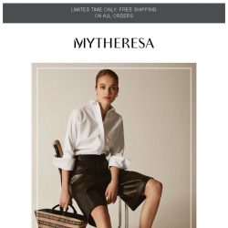[mytheresa] Hello, weekend. The SS19 off-duty edit + limited time free shipping