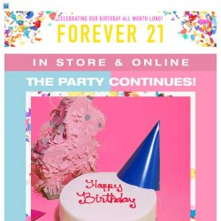 [FOREVER 21] our bday just got better.. 🎈🎉