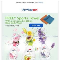 [Fairprice] Go Fresh with Dove 🌻