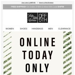 [Saks OFF 5th] BCBGeneration on your mind? + Final Hours: Claim your extra 20% off!