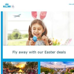 [KLM] Celebrate Easter with these great deals