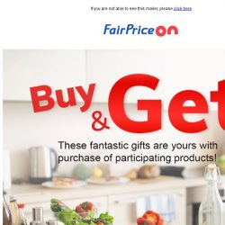 [Fairprice] This week's fantastic gifts!